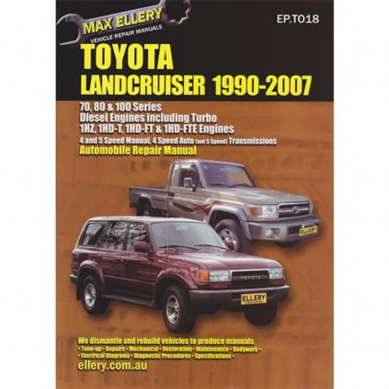 Max Ellery Car Manual For Toyota Landcruiser 1990-2007 - Ep.t018