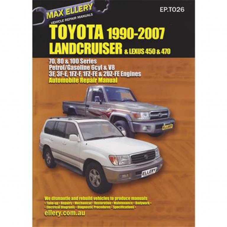 Max Ellery Car Manual For Toyota Landcruiser 1990-2007 - Ep.t026