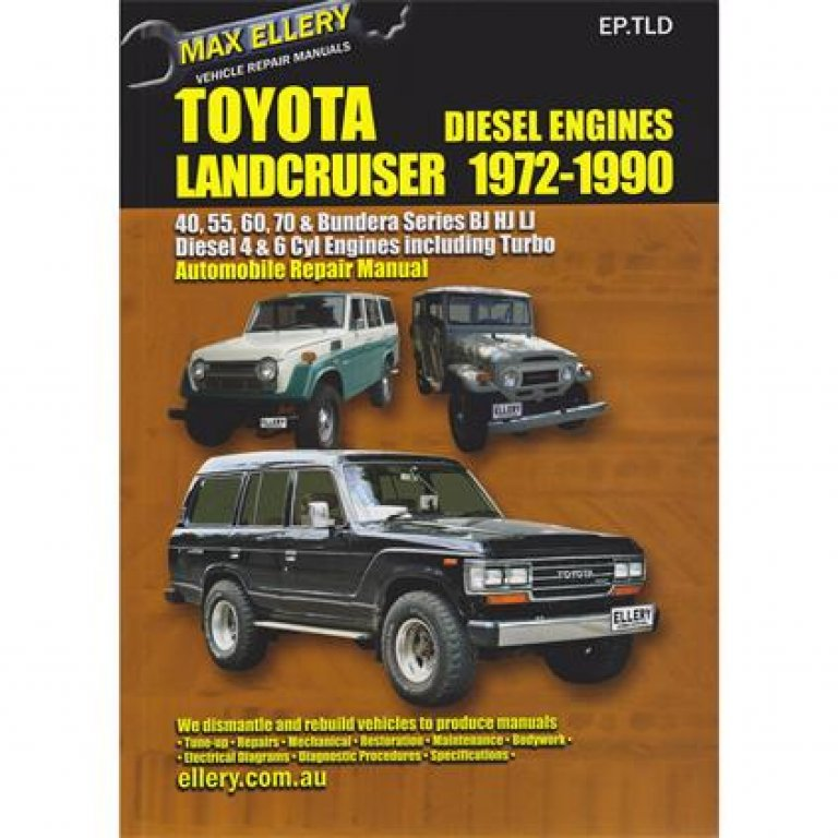 Max Ellery Car Manual For Toyota Landcruiser Diesel 1972-1990 - Ep.tld