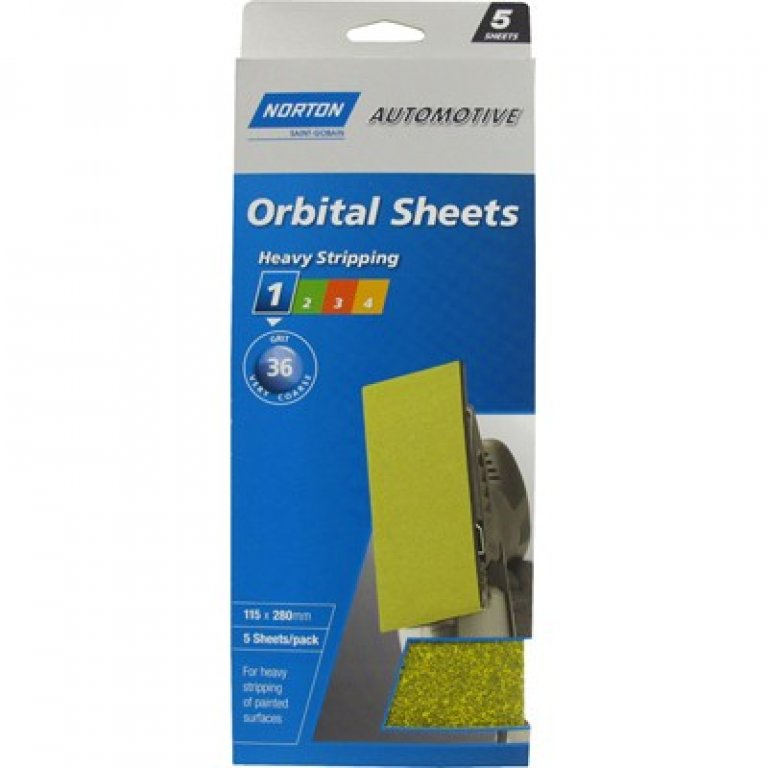 Norton Orbital Sheet - 36 GRIT, 5 PACK