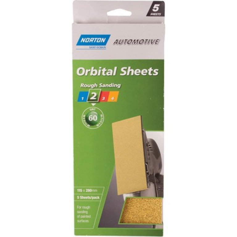 Norton Orbital Sheet - 60 GRIT, 5 PACK