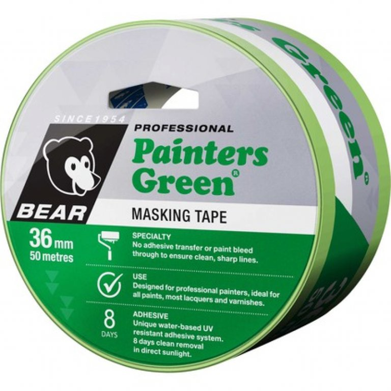 Norton Painters Masking TAPE - Green, 36MM X 50M