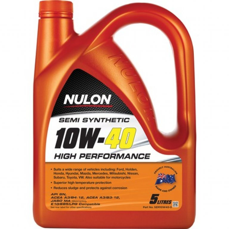 Nulon SEMI Synthetic High Performance Engine Oil - 10W-40 5 Litre