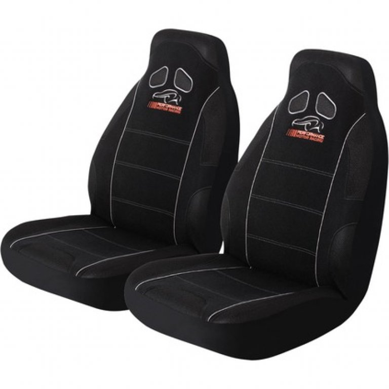 Performance Racing SEAT Covers - Black, Built-in Headrests, Airbag COM