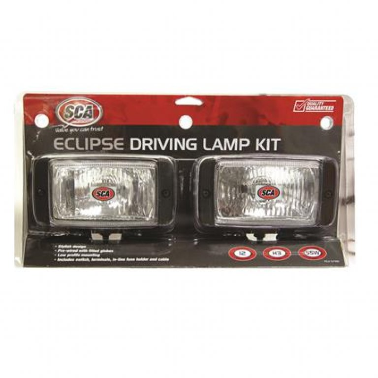 SCA Driving Light Kit - 55W, Eclipse, 144MM X 74MM, Rectangle, 2 PACK
