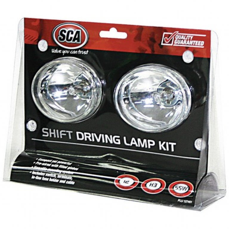 SCA Driving Light Kit - 55W, Shift, 80MM, OVAL, 2 PACK