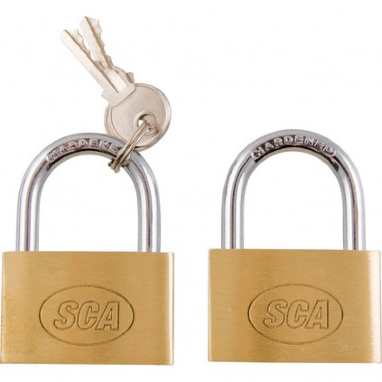 SCA Padlock - Brass, 40MM, 2 PACK