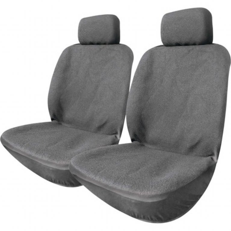 SCA Polypropylene SEAT Covers -  Charcoal, Adjustable Headrests