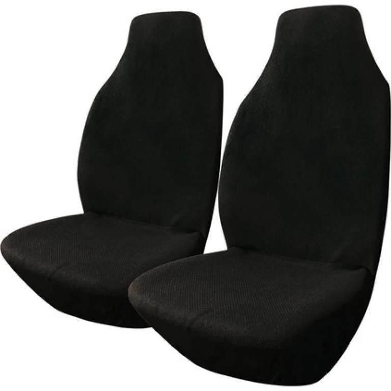SCA Polypropylene SEAT Covers - Black, Built-in Headrests