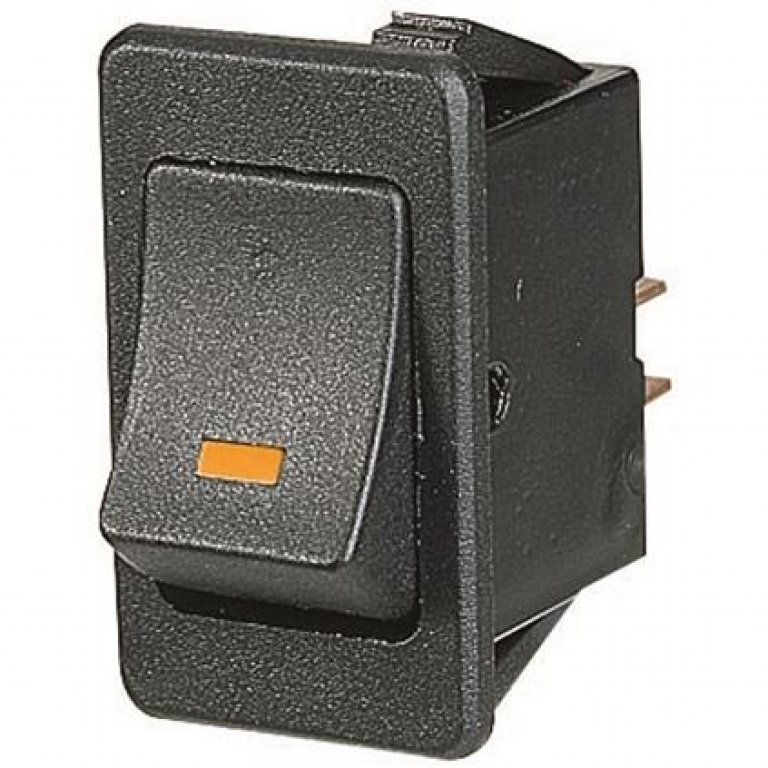 SCA Switch - Rocker, On / Off, Amber LED