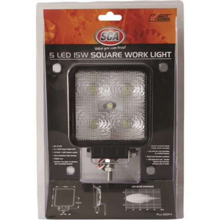 SCA Work Light - LED, 15W, Square