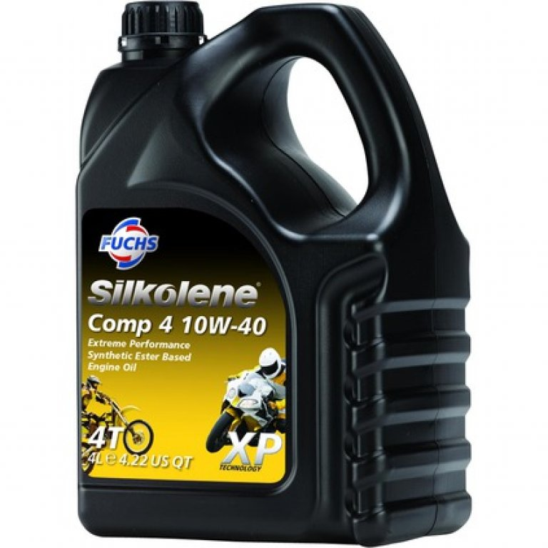 Silkolene Comp 4 Motorcycle Oil - 10W-40,, 4 Litre