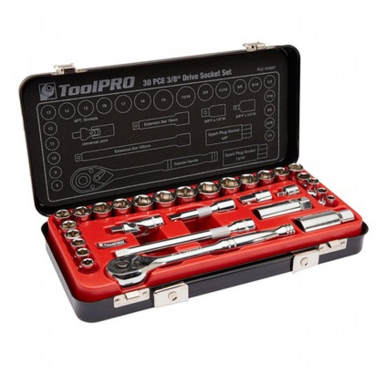 Toolpro Socket SET - 3 / 8 INCH Drive, Metric / Imperial, 30 Piece