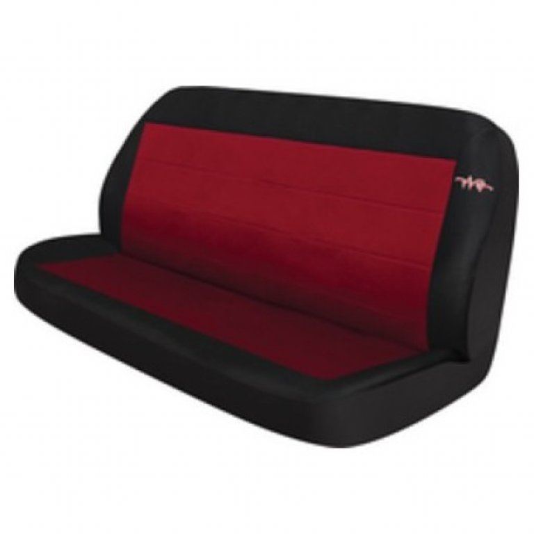 RAE CORD SEAT Covers - Red, Rear SEAT (No Headrests)