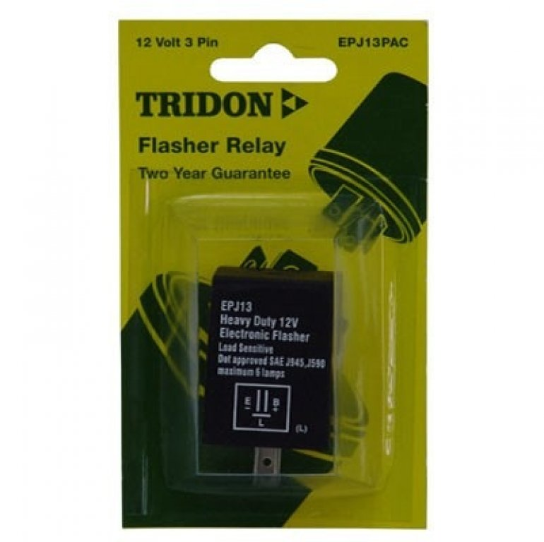 Tridon Electronic Flasher Relay UNIT, LOAD Sensitive - 12V, 3 PIN