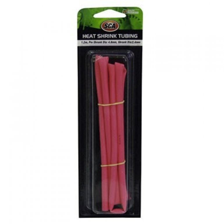 SCA HEAT Shrink Tubing - Red, 4.8mm