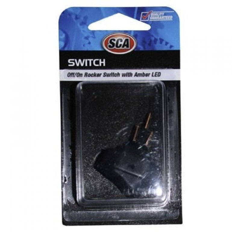 SCA Switch - Rocker, Off / On, Amber LED