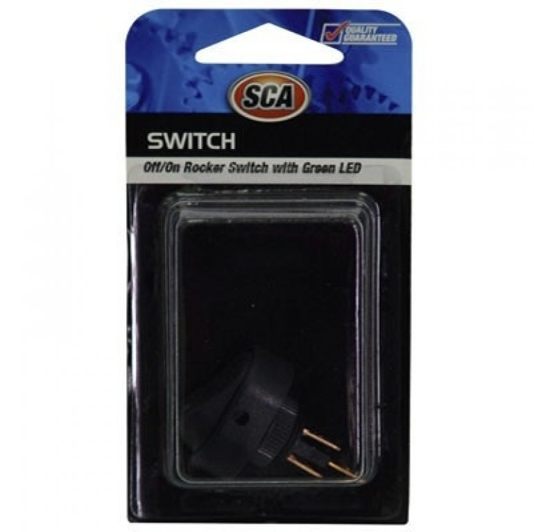 SCA Switch - Rocker, Off / On, Green LED