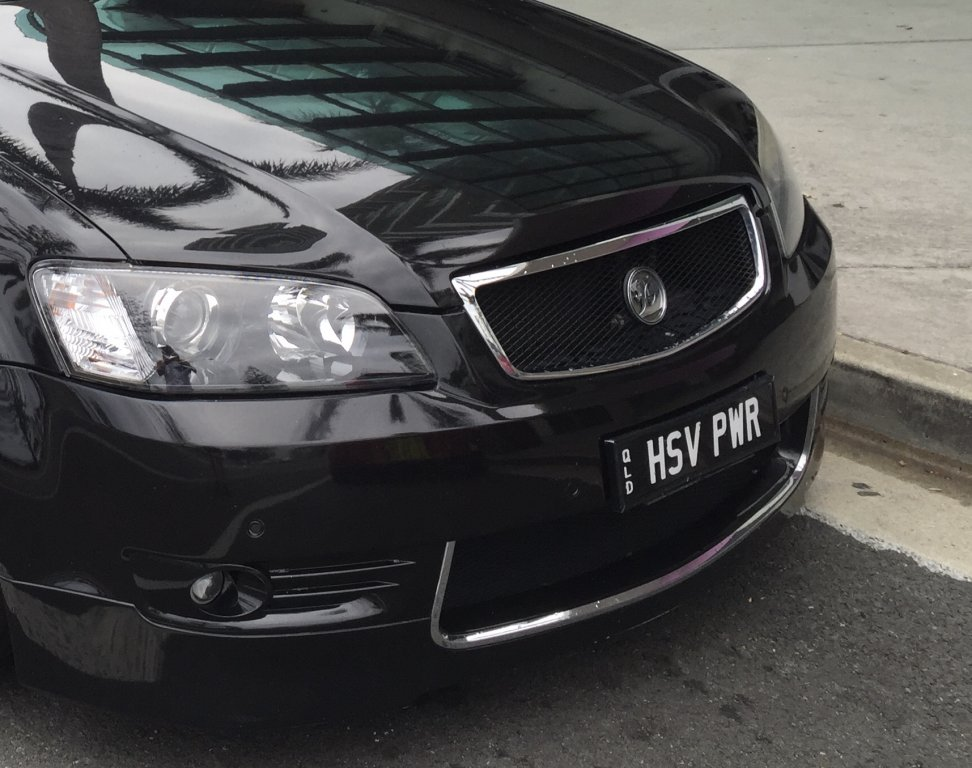 Holden HSV Custom Plates