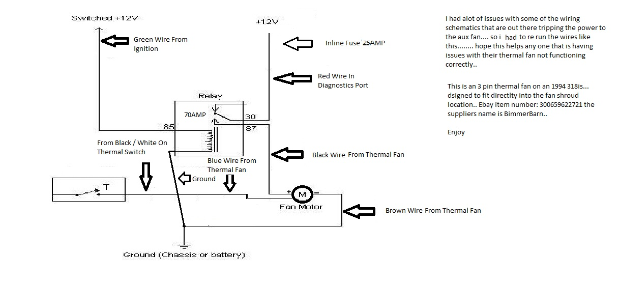 E36 Thermal Fan Wiring